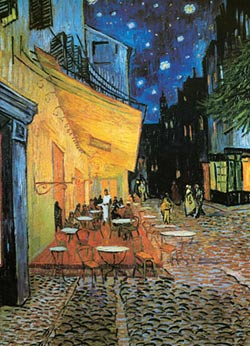 Cafe at Night-det Impressionism Jigsaw Puzzle