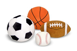 Sports Balls in a Mesh Bag - Plush Toy