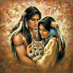 Tender Hearts Native American Jigsaw Puzzle
