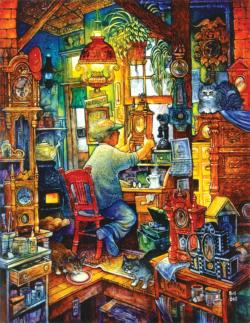 the Clockmaker Nostalgic / Retro Jigsaw Puzzle