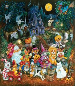 Trick or Treat Dogs Halloween Large Piece