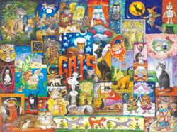 World of Cats Collage Jigsaw Puzzle