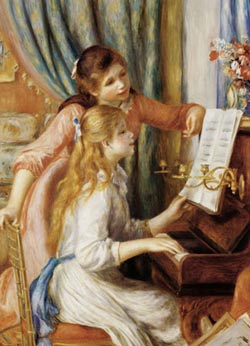 Girls at Piano Impressionism Jigsaw Puzzle