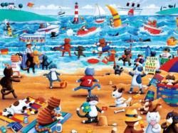 Beach Cats (Paws & Claws) - Scratch and Dent Cartoons Large Piece