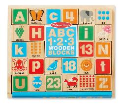 ABC/123 Wooden Blocks Other Animals Wooden