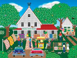 Mama's Quilt House Americana & Folk Art Jigsaw Puzzle