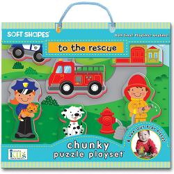 To The Rescue (Soft Shapes) Vehicles Children's Puzzles