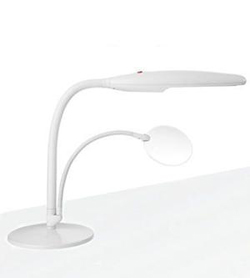 Table Top Lamp with Magnifier Accessory