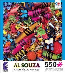 Big Crayons Collage Jigsaw Puzzle