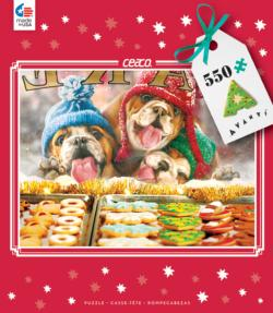 Window Shopping (Holiday Avanti) Dogs Jigsaw Puzzle