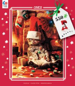 Stuffed Cat (Holiday Avanti) Sweets Family Puzzle