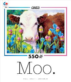 In Blue Sailors and Teasel (Moo) Cows Jigsaw Puzzle