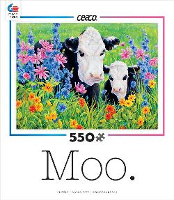 Pasture's Edge (Moo) Baby Animals Jigsaw Puzzle