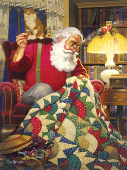 Quilting Santa - Scratch and Dent Christmas Jigsaw Puzzle