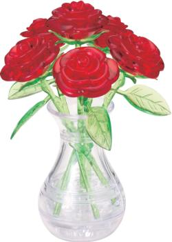 Roses in a Vase Flowers Crystal Puzzle