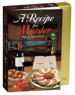 Recipe for Murder 8x8 Murder Mystery Jigsaw Puzzle