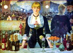 Le Bar des Folies - Bergere Impressionism Wooden Jigsaw Puzzle