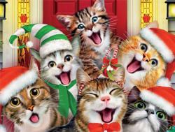 Christmas Kitty Selfie (Selfies) Christmas Jigsaw Puzzle