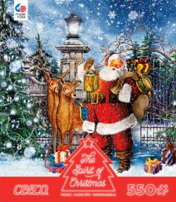 Santa at the Gate (The Spirit of Christmas) Snow Jigsaw Puzzle