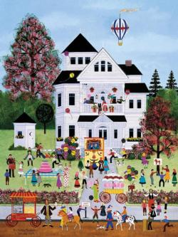 Birthday Mayhem Folk Art Jigsaw Puzzle