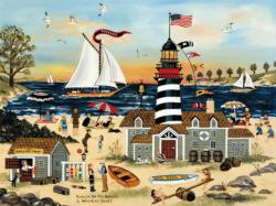 Beacon on the Beach Americana & Folk Art Jigsaw Puzzle