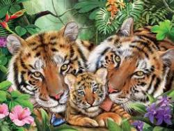 Tiger Love (Harmony) Tigers Jigsaw Puzzle