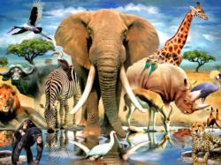 African Oasis Jungle Animals Jigsaw Puzzle