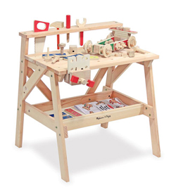 Wooden Project Workbench Pretend Play
