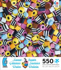 Stripe Candy (Sweet Treats) Food and Drink Jigsaw Puzzle