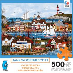 Lure of the Sea (500 Piece Oversized Puzzle) Folk Art Large Piece