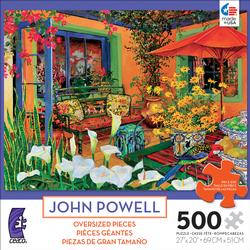 Orange Curtain (500 Piece Oversized Puzzle) Garden Large Piece
