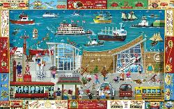 Next Stop: Columbia River Museum Lakes / Rivers / Streams Jigsaw Puzzle
