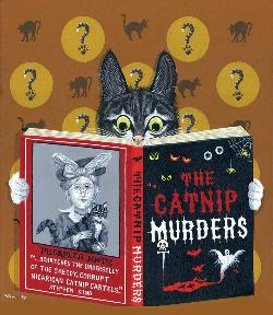 The Catnip Murders - Scratch and Dent Books / Library Jigsaw Puzzle