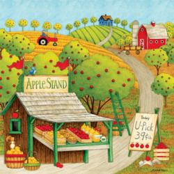 Apple Stand (Debbie Mumm) Food and Drink Jigsaw Puzzle