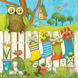 Owl and Friends (Debbie Mumm) Garden Jigsaw Puzzle