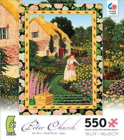 Bee Hive Folk Art Jigsaw Puzzle