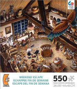 Weekend Escape - Wooden Toy Workshop Everyday Objects Jigsaw Puzzle