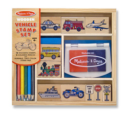 Vehicle Stamp Set Vehicles Activity Books and Stickers