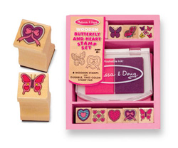Butterfly and Hearts Stamp Set Valentine's Day Arts and Crafts
