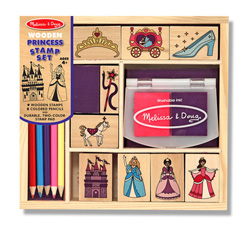 Wooden Princess Stamp Set Princess Arts and Crafts