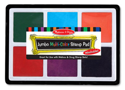 Jumbo Multi-Color Stamp Pad Arts and Crafts