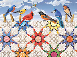 Feathered Stars - Scratch and Dent Quilting & Crafts Jigsaw Puzzle