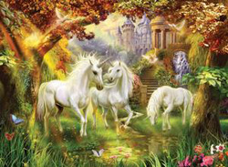Magical Unicorn Forest Unicorns Jigsaw Puzzle