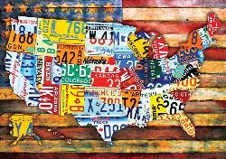 Road Trip U.S.A. Maps / Geography Large Piece