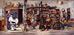 The Mailman General Store Jigsaw Puzzle
