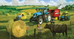 Big Round Baling Day Farm Jigsaw Puzzle