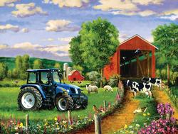 Country Lane Cows Jigsaw Puzzle