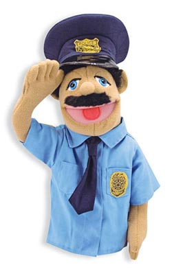 Police Officer Puppet Toy