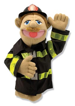 Firefighter Puppet Toy