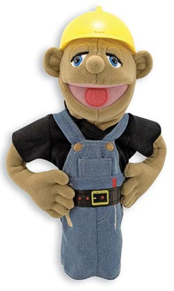 Construction Worker Puppet Toy